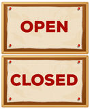 Open and closed Stock Photography