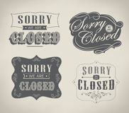 Open and Closed Vintage retro signs Royalty Free Stock Photo
