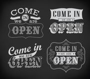 Open and Closed Vintage retro signs Stock Images
