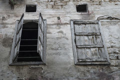 Open and closed window, Tripoli, Lebanon Stock Images