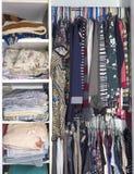 Open closet Royalty Free Stock Photo