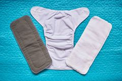 Open cloth diaper Royalty Free Stock Photo