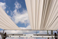 Open cloth roof for see sky view Royalty Free Stock Photo