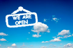 We are open stock image