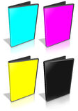 Open CMYK DVD Case Stock Photo