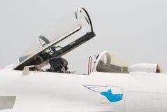 Open cockpit van straal su-27 Royalty-vrije Stock Foto's