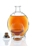 Open cognac Royalty Free Stock Photo