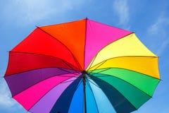 Open colorful rainbow umbrella Royalty Free Stock Photo