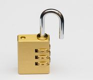 Open combination lock Royalty Free Stock Photos