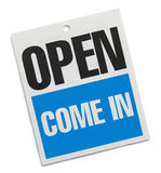 Open Come In Sign royalty free stock photography