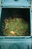 Open composter bin Stock Photos