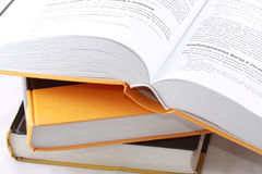 Open computer book Stock Image
