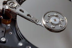 Open computer hard disk Stock Image