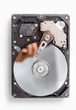 Open computer hard disk Stock Photo