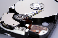 Open computer hard drive Stock Images