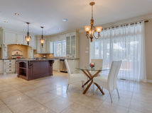 Open concept kitchen in luxury home Stock Image