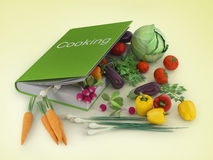 Open cookbook. Stock Photos
