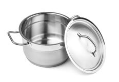 Open cooking pot Stock Images