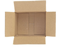 Open Corrugated cardboard box Royalty Free Stock Photos