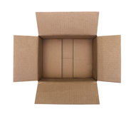 Open corrugated cardboard box Stock Photos