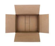 Open corrugated cardboard box Stock Photos