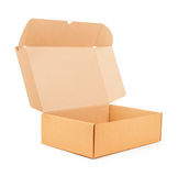 Open corrugated cardboard box Royalty Free Stock Image