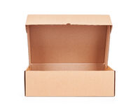 Open corrugated cardboard box Royalty Free Stock Images