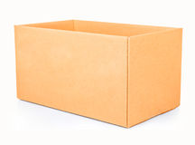 Open corrugated cardboard box Stock Image