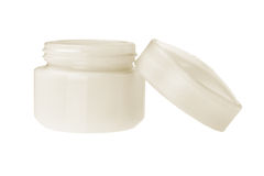 Open Cosmetic Cream Bottle Stock Photo