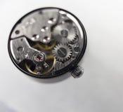 Open cover steel clockwork. Stock Image
