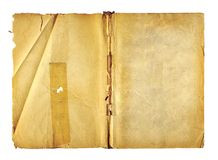 Open cover writing-book with  metal clip for record Royalty Free Stock Images