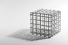 Open cube frame on a white background Stock Photography