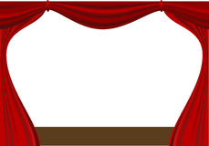 Open curtain Royalty Free Stock Image