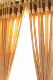 Open Curtain. Golden Open Curtain full view Royalty Free Stock Photography