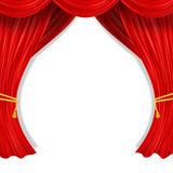 Open curtain Stock Photo