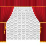 Curtain on stage royalty free illustration