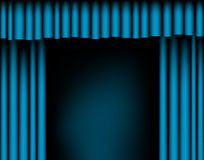 Open curtains Royalty Free Stock Image