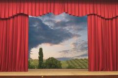 Open curtains Stock Photos