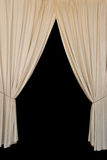 Open curtains elegant drapes Royalty Free Stock Photo