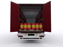 Open Curtainsider Royalty Free Stock Photo