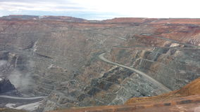 Open cut gold mine Stock Photography