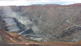 Open cut gold mine Stock Images