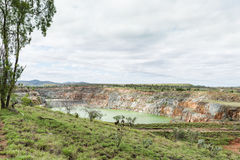 Open cut gold mine, Ravenswood, Queensland, Australia royalty free stock image