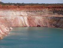 Open-Cut Mine, full of water, with benches and side walls, Generic. royalty free stock photos