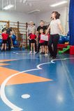 Open dag in de kleuterschool van Kaluga-gebied van Rusland royalty-vrije stock fotografie