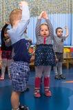 Open dag in de kleuterschool van Kaluga-gebied van Rusland royalty-vrije stock foto
