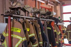 Open dag van Duitse brandbestrijders in Bayreuth (Beieren) stock afbeelding