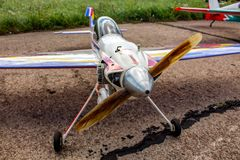 Ermolino, Russia - August 15, 2015: Open Day at the airbase in Ermolino. Air modeling show royalty free stock photography