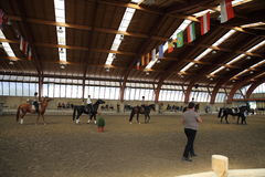 Open Day - Ecole de Légèreté (EDL) di Philippe Karl. Sunday, September 14, 2014, at the Equestrian Center The Elephant Pioltello (MI - C.na Saresina) was held Royalty Free Stock Photo