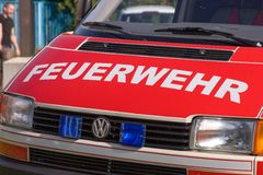 Open day of german firefighters in Bayreuth (Bavaria) Royalty Free Stock Photography